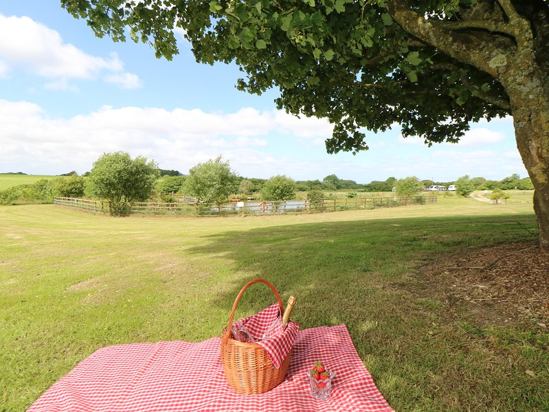 Picnic area  at Vose Farm Holiday Cottages, Cornwall