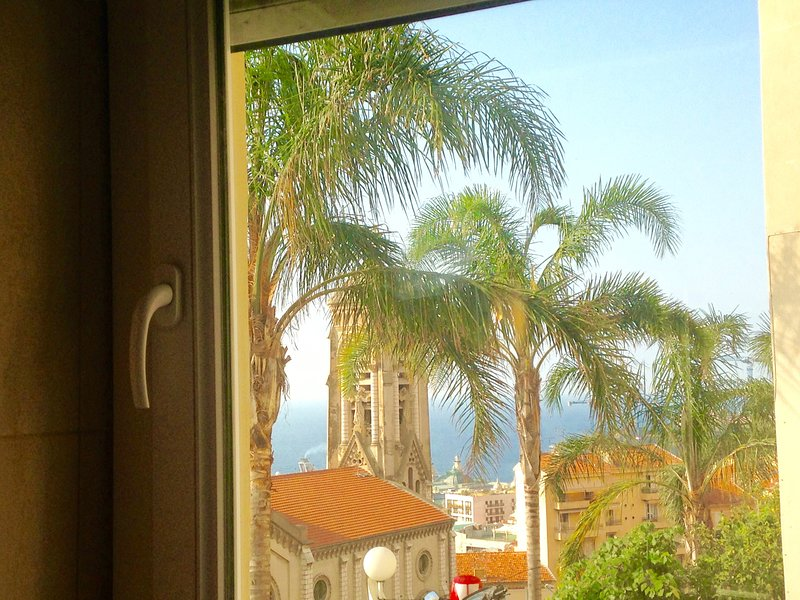 the view from the apartment to Monaco at 15 minutes walk, double glazing