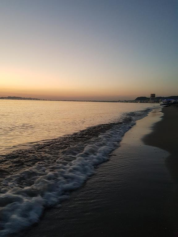 Sea at sunset time