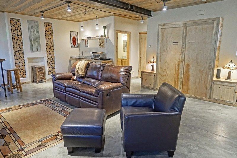 Denna trevliga lägenhet är ett stort öppet utrymme