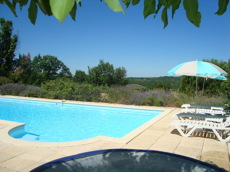 Les Lavandes - 2 bed cottage with shared pool in hills near Cahors, vacation rental in Lot