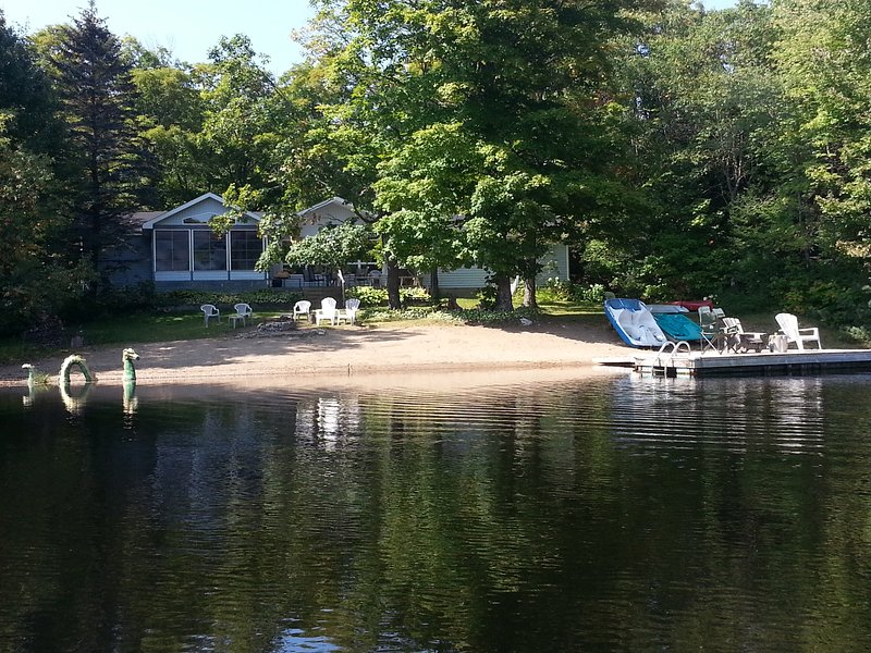 View of the cottage from the lake