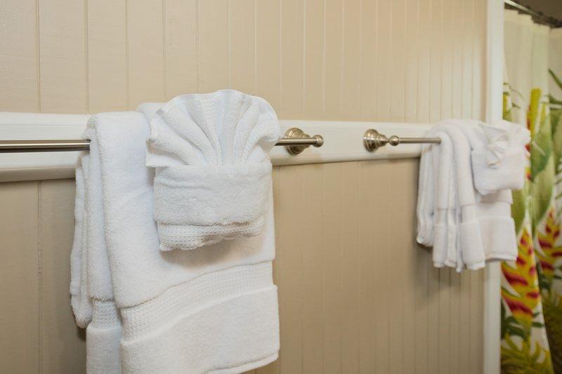 Handtücher sind vorhanden