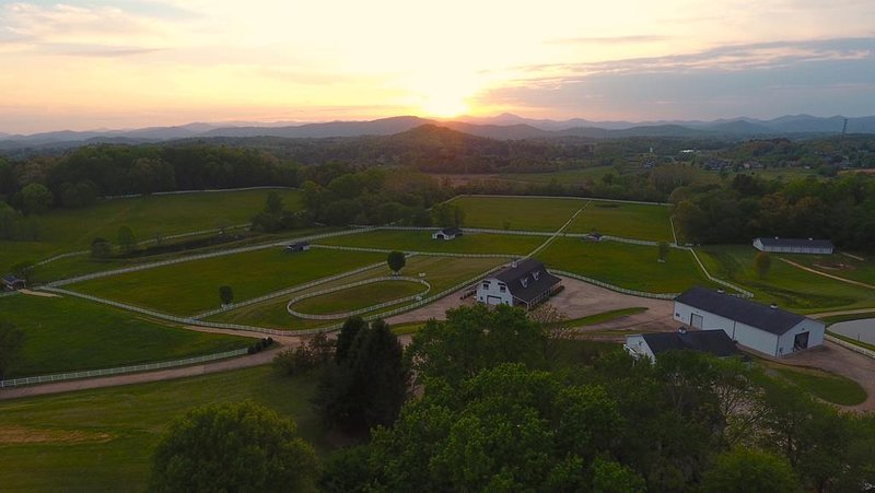 The Horse Shoe Farm at sunset