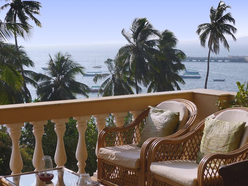 Relax and enjoy the stunning views from the dining area balcony