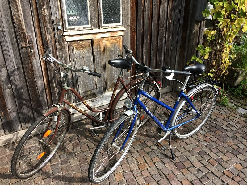 2 free beer garden bikes for our guests