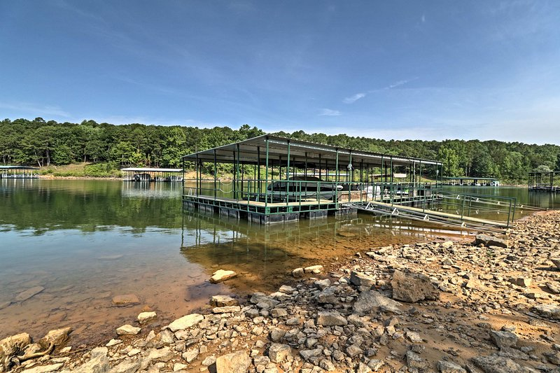 Relaxing days on Greers Ferry Lake await at this vacation rental house.