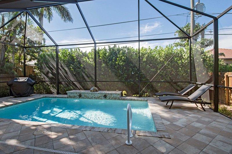 Hören Sie dem Wasserbrunnen zu und genießen Sie dieses ruhige Florida Haus!