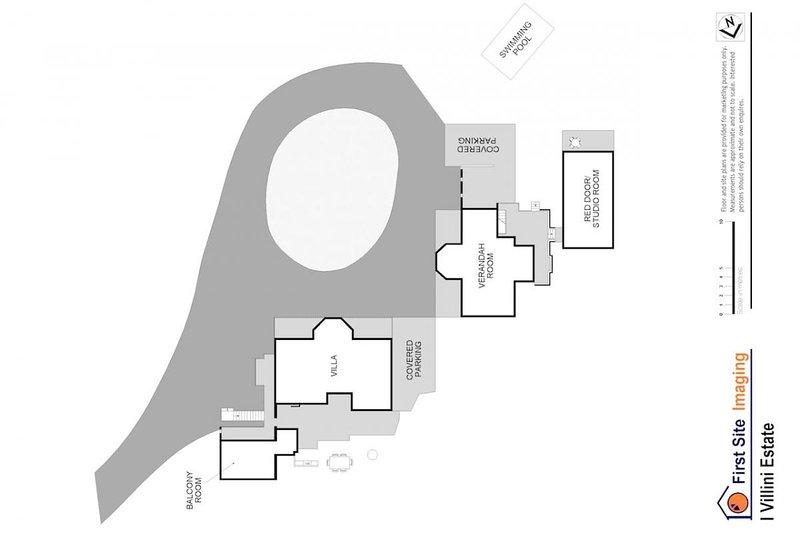 Hunter Valley Unterkunft - ich Villini Estate - Lovedale - Grundriss