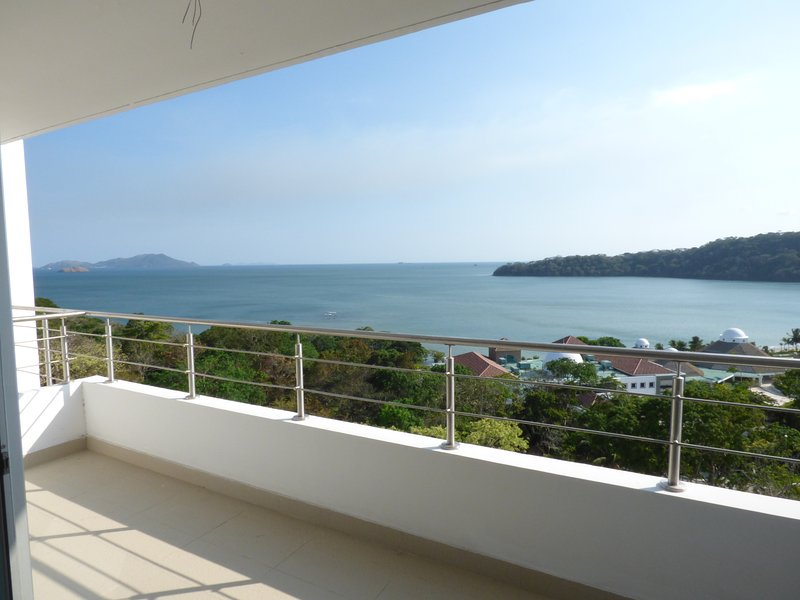 Large private balcony off living area.