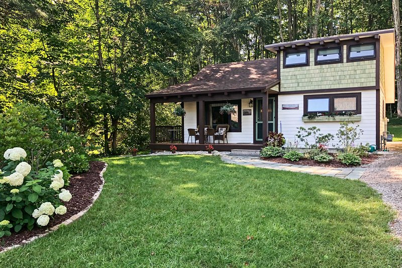 Enjoy beautiful Walloon Lake from this Boyne City vacation rental cottage.