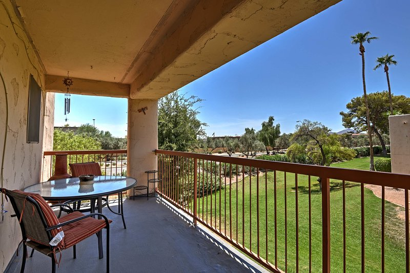 Welcome to your 2-bedroom, 2-bath Scottsdale vacation rental condo!
