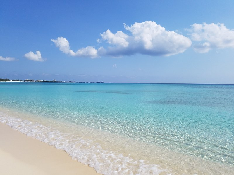 Beach right in front of #58 Cayman Reef Resort.
