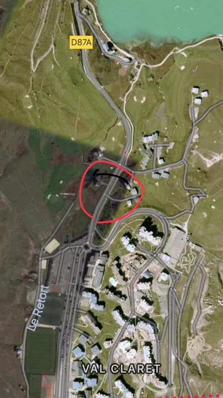 An Arial view of location of chalet