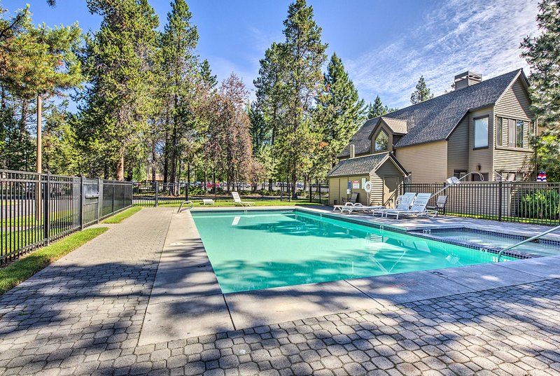 An epic Sunriver escape awaits you at this vacation rental townhome.