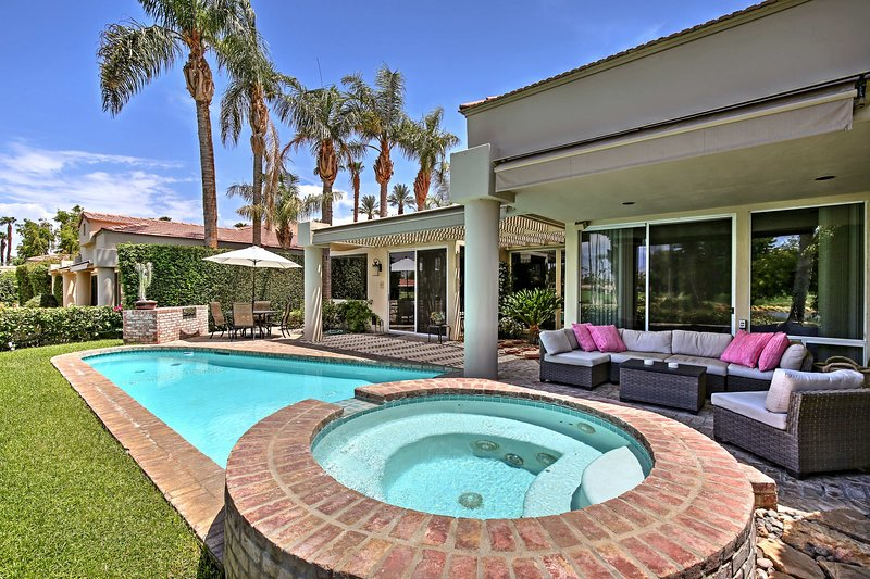 Escape to Indian Wells at this luxurious 3-bed, 3-bath vacation rental home!