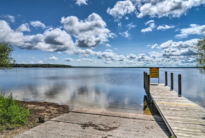 You'll find the public boat ramp just 2 miles away!