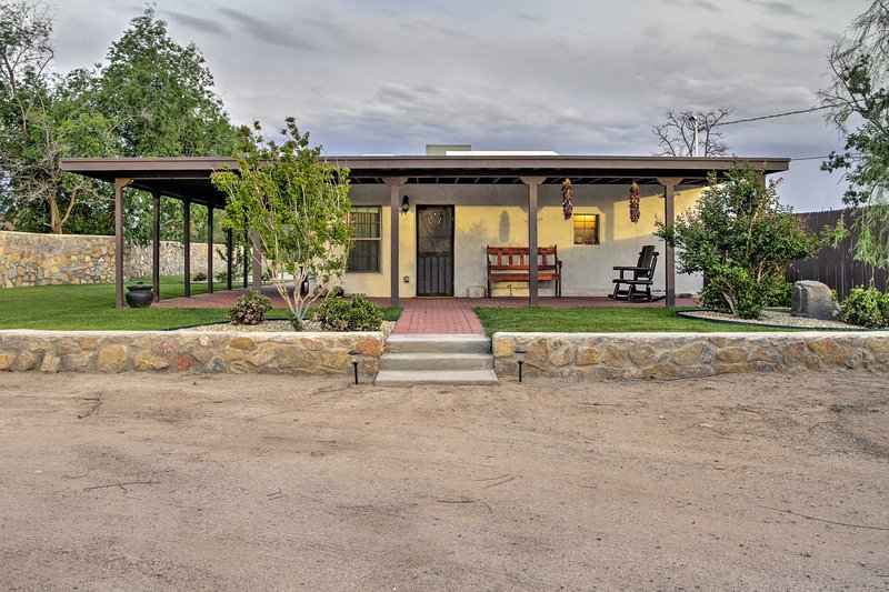 Discover the beauty of southern New Mexico from this charming Mesilla casita.