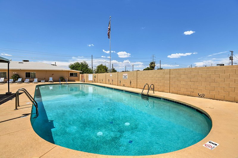 Beat the desert heat by dipping in the pool!