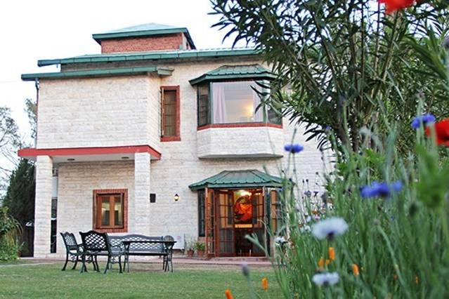 The double story chalet style Vacation Home in Kasauli sitting atop a hill