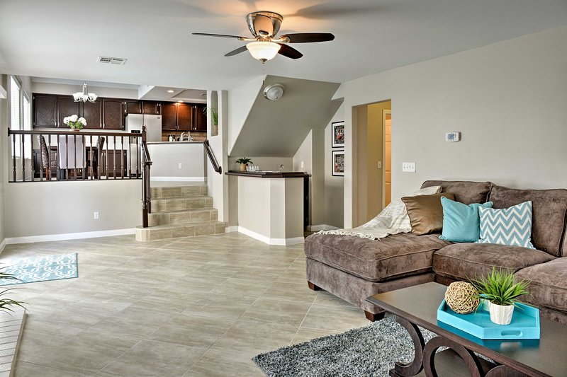 The open layout of this home is perfect for large groups or multiple families.