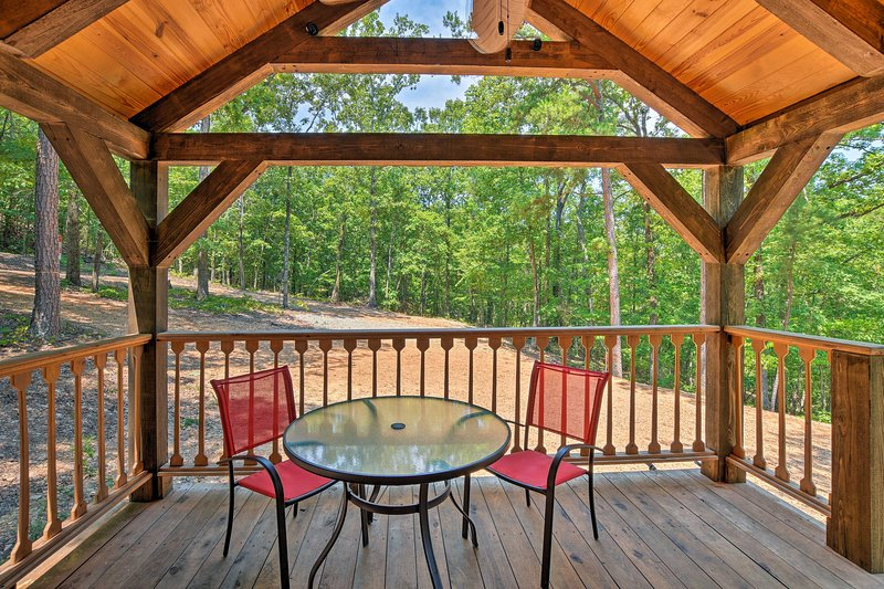 Enjoy fabulous forest views at this 1-bedroom, 1-bathroom vacation rental cabin!