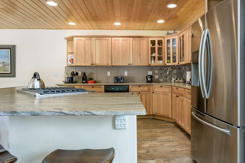 Large kitchen with high-end appliances