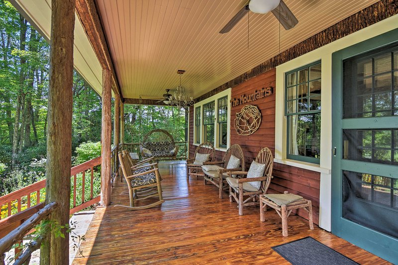 Enjoy your morning coffee outside on the covered porch.