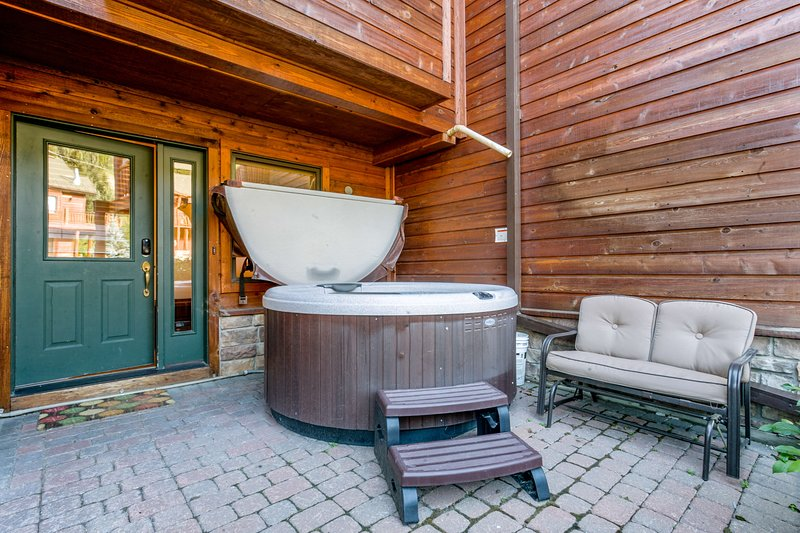 Lower level patio with your own private hot tub