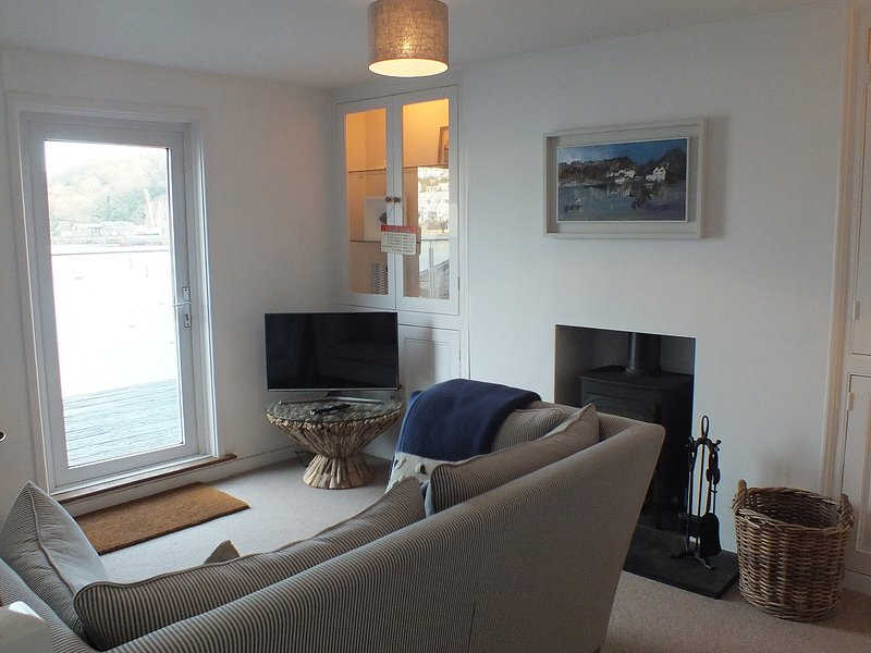Snuggle up on the sofas and enjoy the woodburner and Smart TV