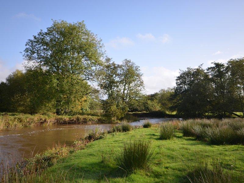 River running through the farm