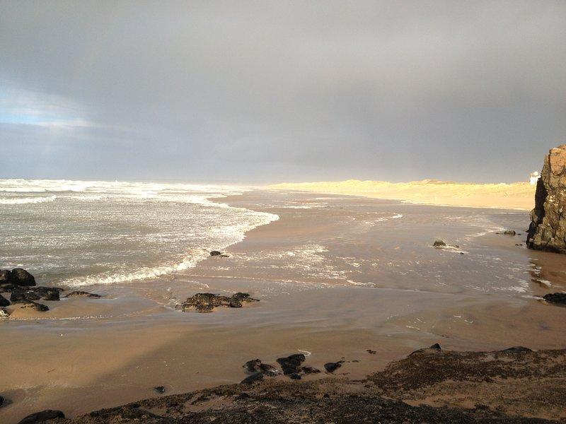 Castlerock beach in winter.