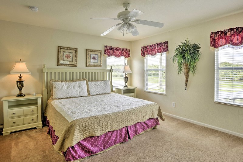 Retreat to one of the 5 spacious bedrooms to relax.