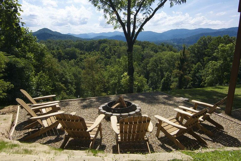 Fire pit with amazing views