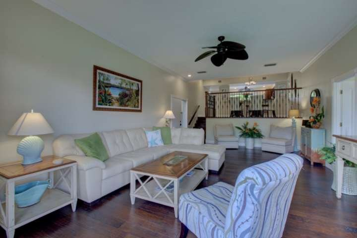Open and inviting.  You will sure to enjoy all the space and comfort this townhome provides for your family vacation.