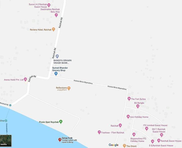 Mapa de Raichak