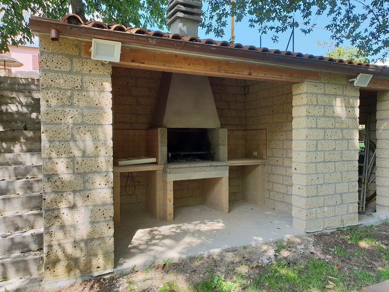 Barbecue fireplace brickwork