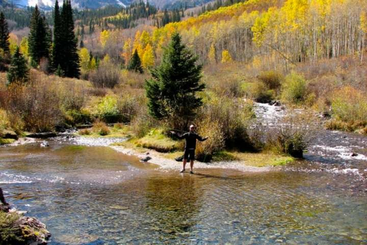 Fly fishing is a year-round sport in the Aspen/Snowmass area.  Photo courtesy Aspen Chamber Resort Association, Juan Grobler.