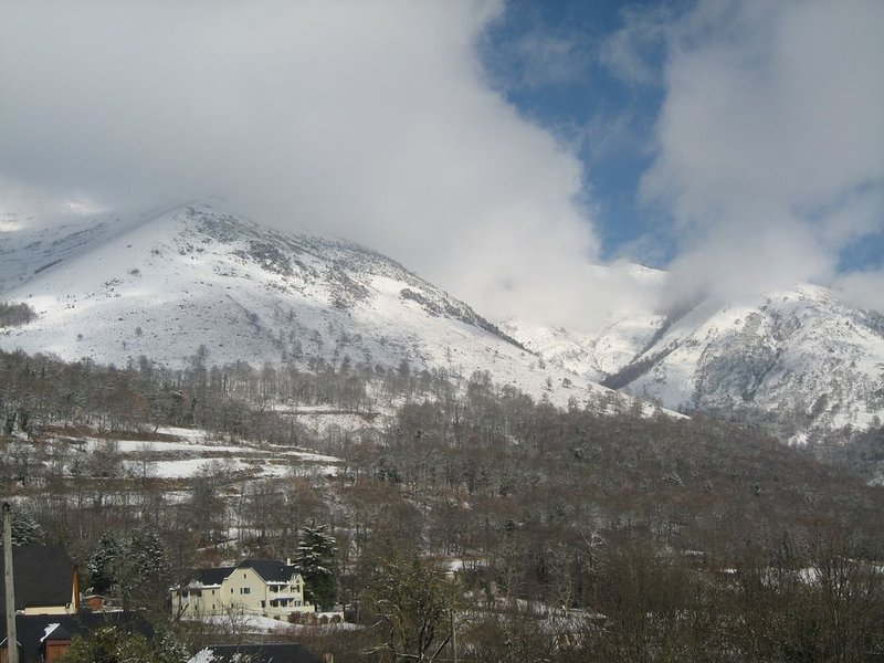 A winter's view of the slopes of Hautacam.