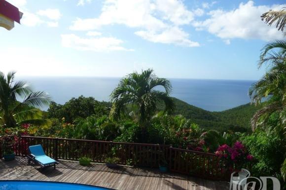 Une vue à couper le souffle sur la Caraïbe et les ilets Pigeon.