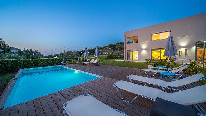 Nota Seaview Villa, Almyrida Chania, casa vacanza a Tsivaras