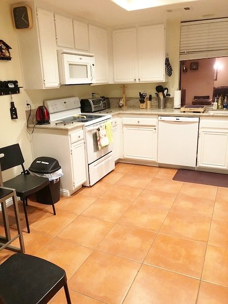 Kitchen - Granite Counters and new tile floors