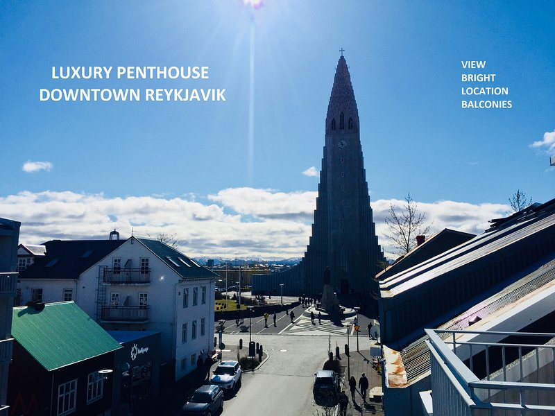 New Luxury Penthouse Apt downtown - Amazing Views, vacation rental in Reykjavik