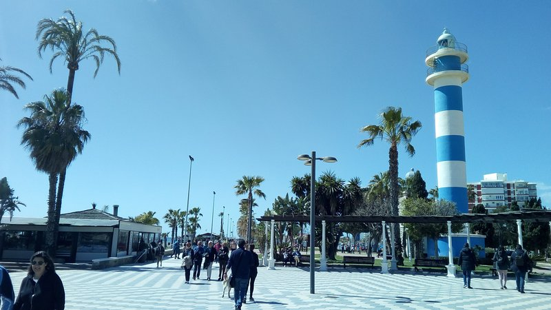 The prom at Torre del mar