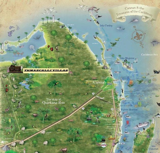 Carte de localisation Temazcalli