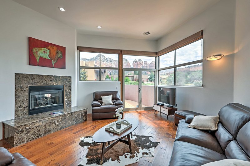 Book this beautifully furnished vacation rental for your next stay in  Sedona!