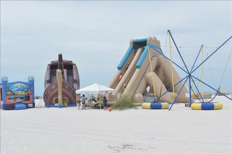 fun local beach water slides on Treasure Island