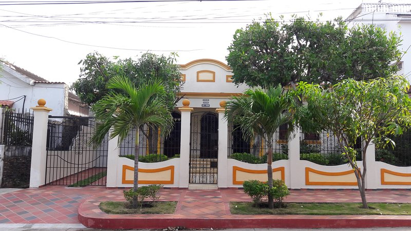 Facade of the house Blanca María built in 1937 and remodeled only in the last 10 years.