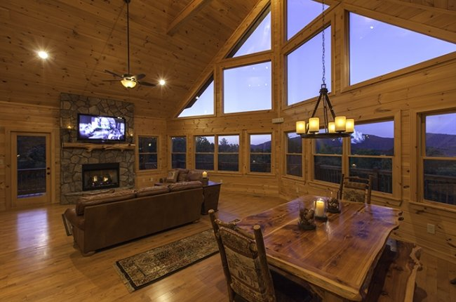 Stunning Window Wall along Living and Dining Areas