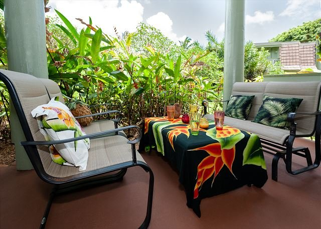 Patio at Kauai location de vacances Puamana 25B